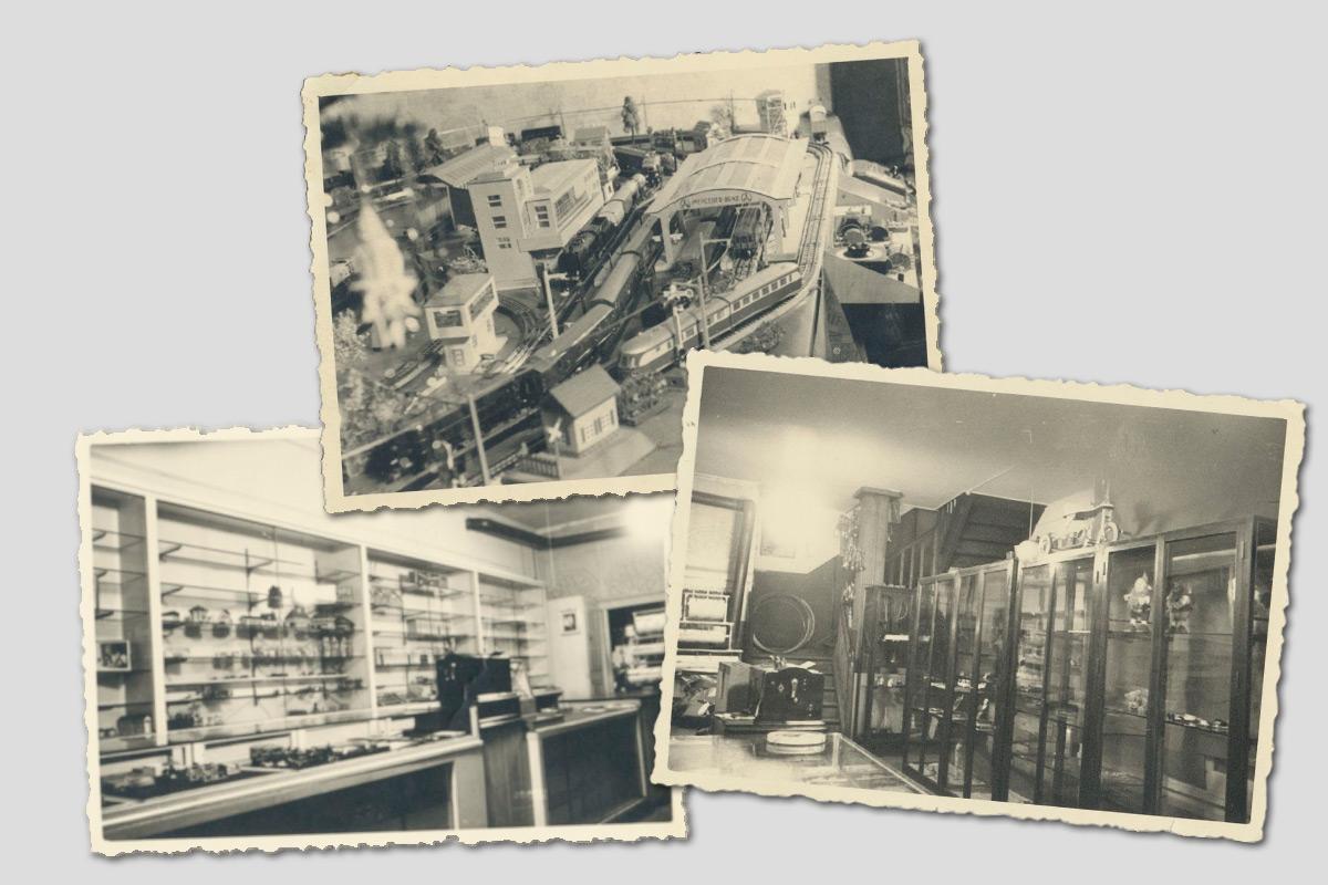 Innenansichten aus dem Virnich-Verkaufsraum, ca. 1950er Jahre