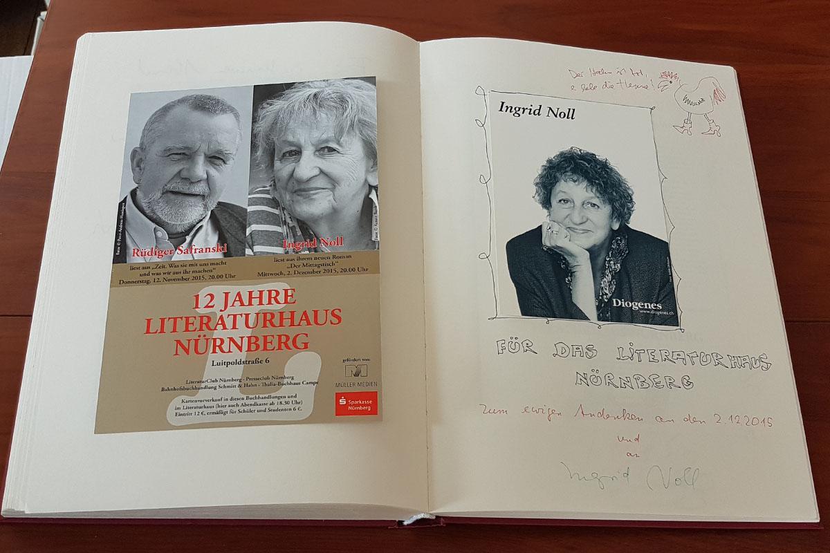 Ingrid Nolls Eintrag in unser Gästebuch vom 2. Dezember 2015.