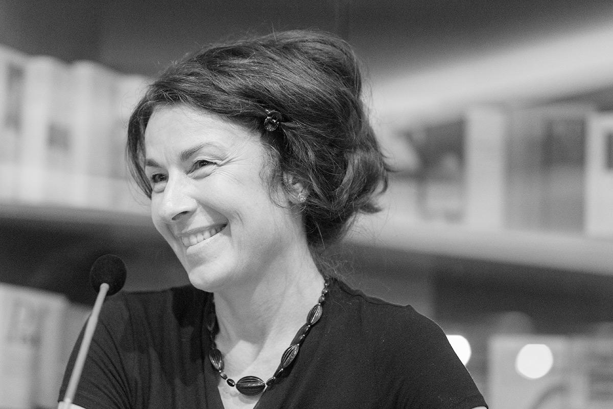 """Zsuzsa Bánk liest aus ihrem Roman """"Schlafen werden wir später"""". © Joachim Hauser"""