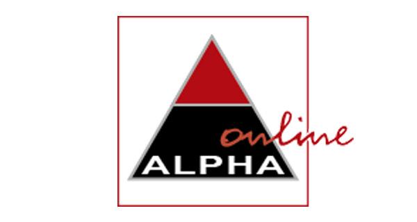 Logo der alpha-Buchhandlung