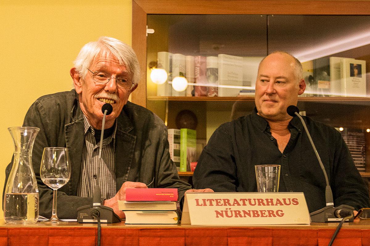Karlheinz Bedall und Stewart O'Nan feiern Scott F. Fitzgerald im Juni 2016. © Joachim Hauser