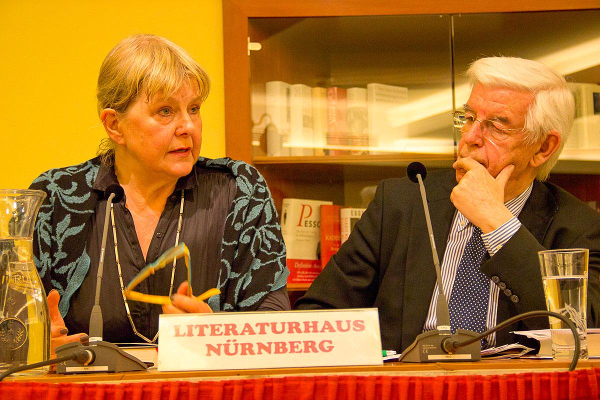 Marianne Birthler und Doktor Manfred Boos am 20. März 2014. © Joachim Hauser