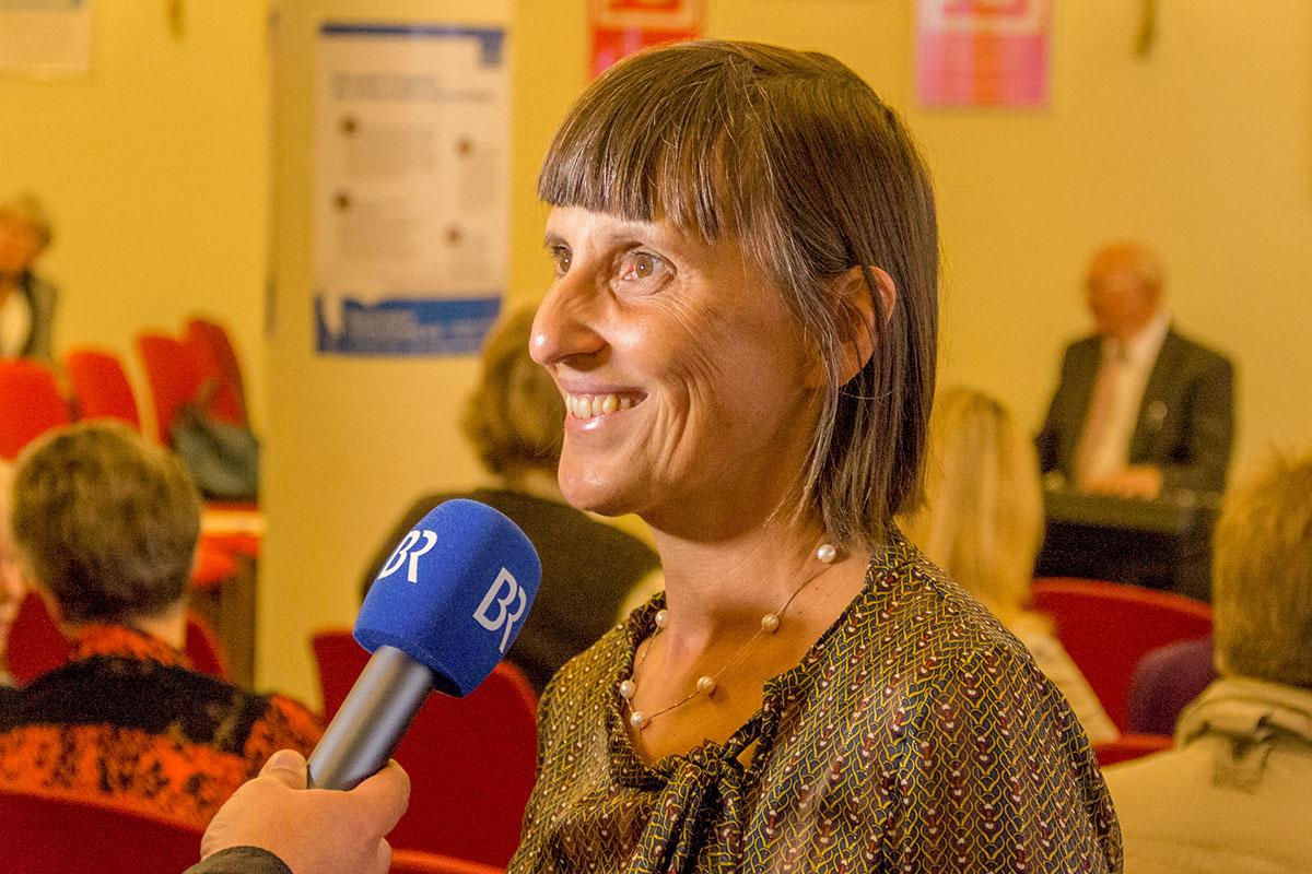 Ruth Tiedge von der Bayerischen Hörbücherei e.V. am 10. Oktober 2018. © Joachim Hauser