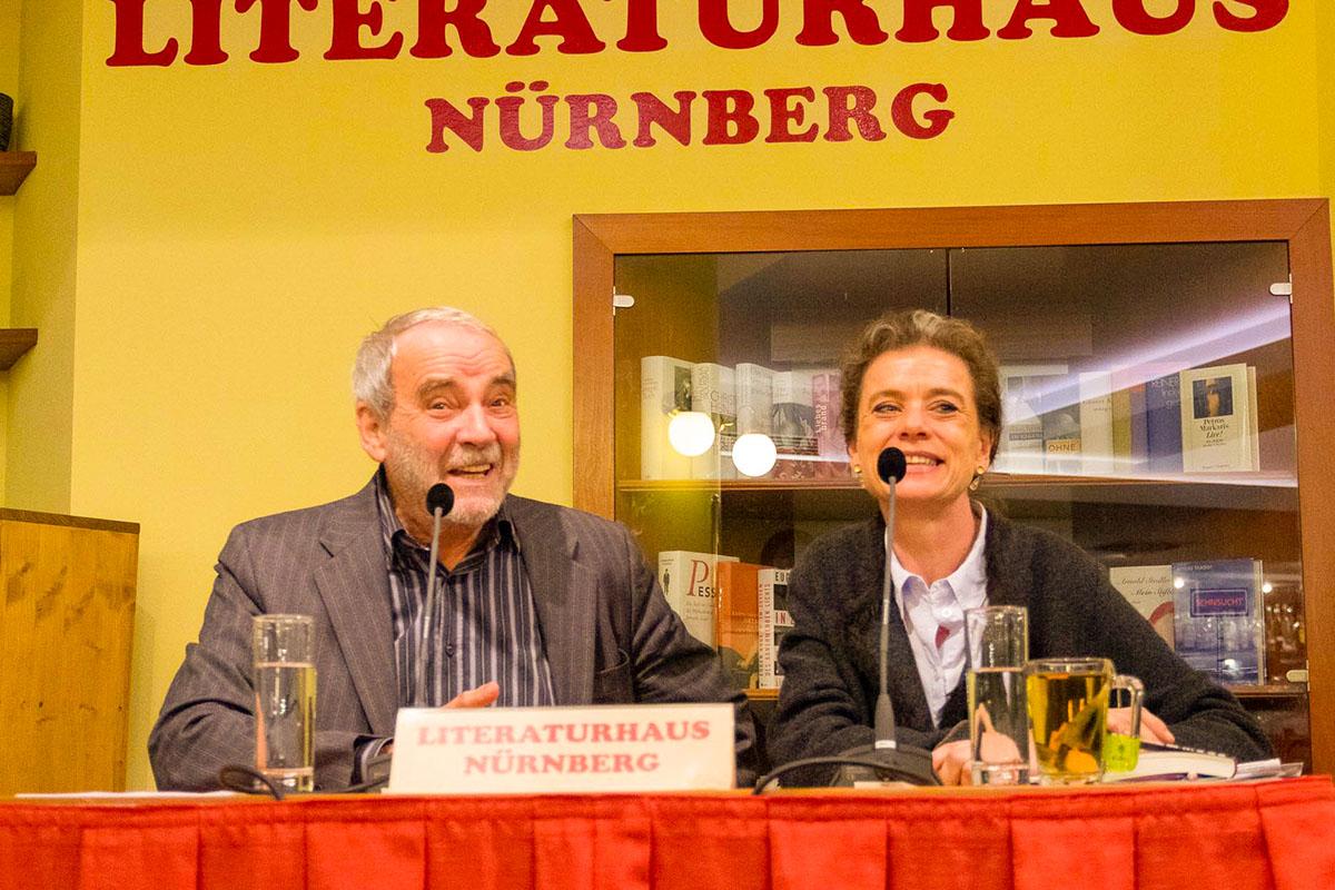 Walter Kreye mit Elisabeth Zeitler-Boos am 7. November 2018. © Susanne Halfmann
